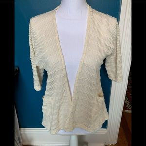 UO Pins & Needles open front crocheted cardigan S